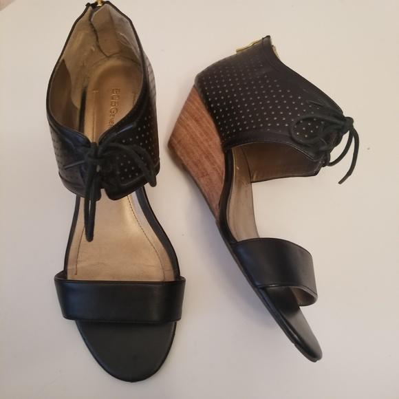 95838735ae BCBGeneration Shoes | Bcbg Generation Black Wedge Sandals | Poshmark